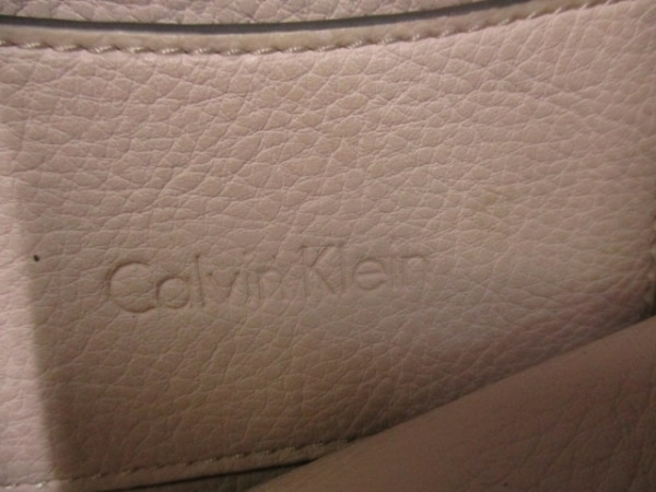 CalvinKlein(カルバンクライン) ハンドバッグ ピンクベージュ×ピンク レザー