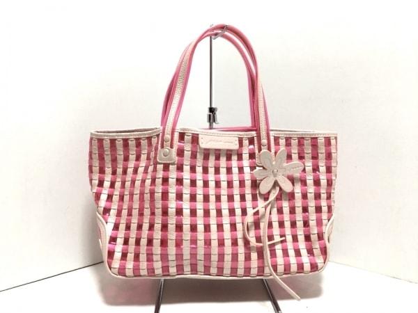 Mio Milano(ミオ・ミラノ) トートバッグ美品  ライトピンク×ピンク レザー×ビニール