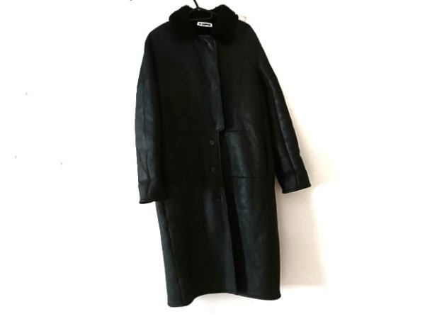 JILSANDER(ジルサンダー) コート サイズ34 XS レディース美品  黒 レザー/冬物