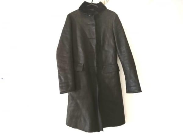 ジルサンダー コート サイズ34 XS レディース美品  ダークブラウン ラムレザー/冬物