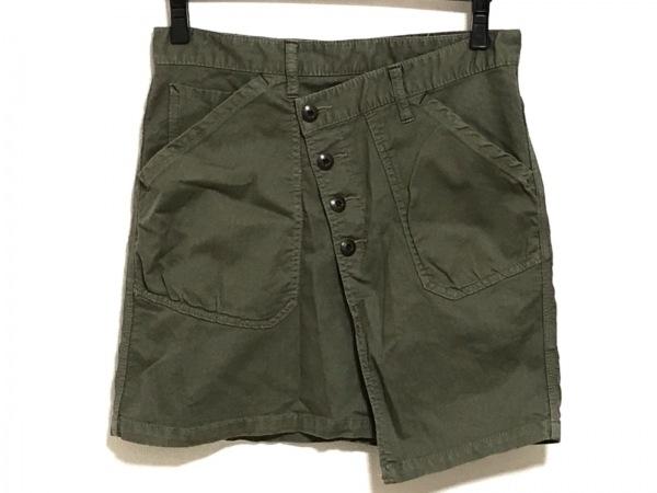 antgauge(アントゲージ) 巻きスカート サイズL レディース ダークグリーン