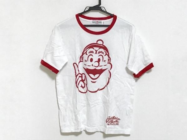CAPTAIN SANTA(キャプテンサンタ) 半袖Tシャツ サイズS レディース 白×レッド