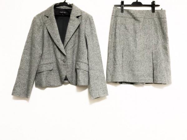 INDIVI(インディビ) スカートスーツ レディース美品  白×黒