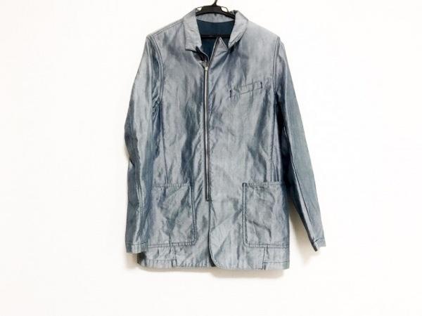 ラッドミュージシャン コート サイズ44 L メンズ ネイビー×白 春・秋物/ジップアップ