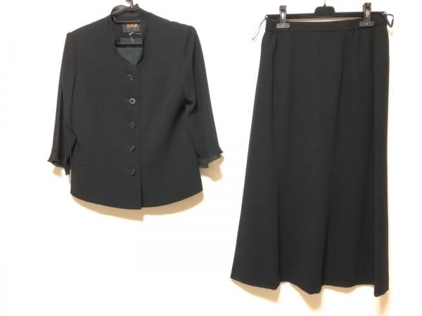 yumi katsura(ユミカツラ) スカートセットアップ サイズ13 L レディース 黒