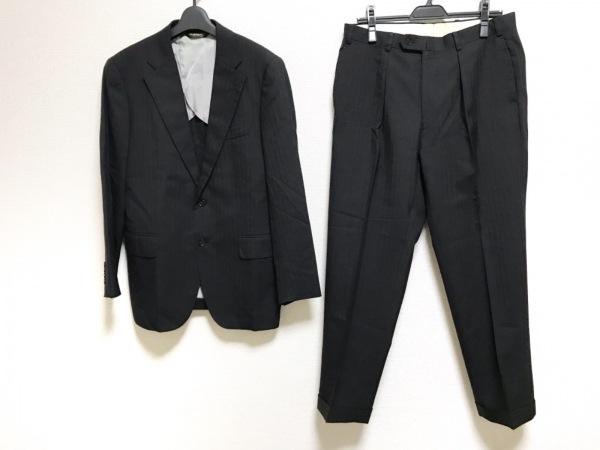 PaulStuart(ポールスチュアート) シングルスーツ メンズ 黒 ストライプ