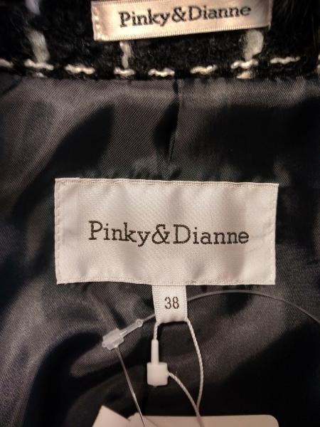 Pinky&Dianne(ピンキー&ダイアン) スカートスーツ サイズ38 M レディース美品  黒×白