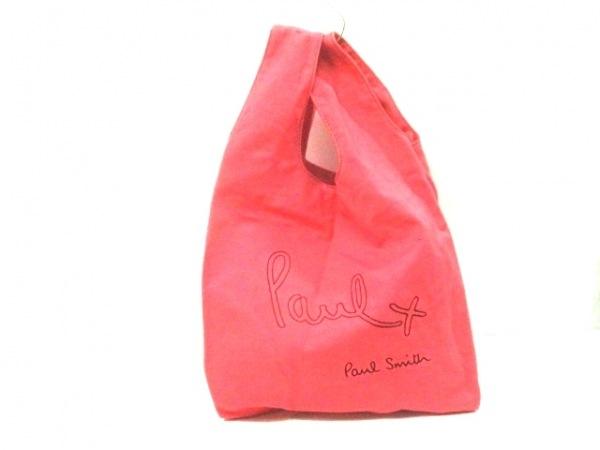 Paul+ PaulSmith(ポールスミスプラス) トートバッグ ピンク×黒 刺繍 キャンバス