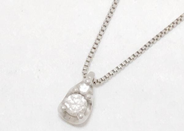 ヴァンドーム青山 ネックレス Pt850×Pt950×ダイヤモンド 2Pダイヤ/約0.07カラット