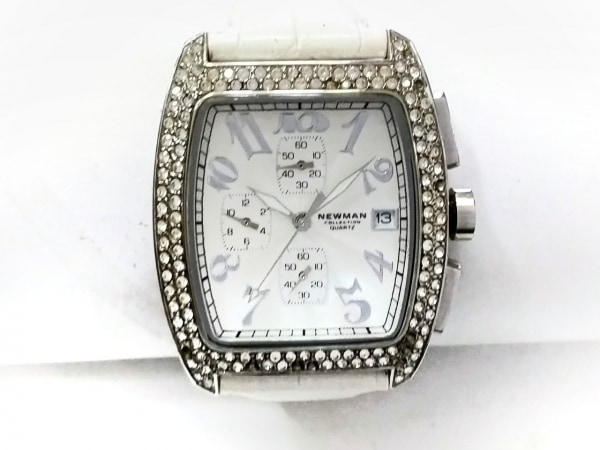 NEWMAN(ニューマン) 腕時計 - レディース 革ベルト 白