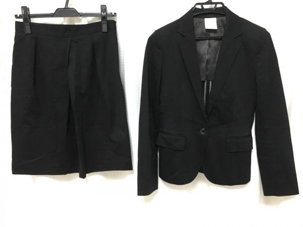 Le souk(ルスーク) スカートスーツ サイズ38 M レディース新品同様  黒 肩パッド