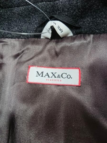 MAX&CO.(マックス&コー) コート レディース ダークグレー 冬物
