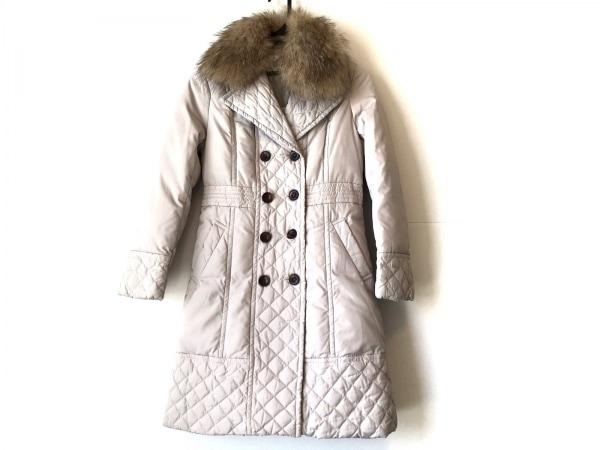 LOUNIE(ルーニィ) ダウンコート サイズ38 M レディース美品  アイボリー 冬物/ファー