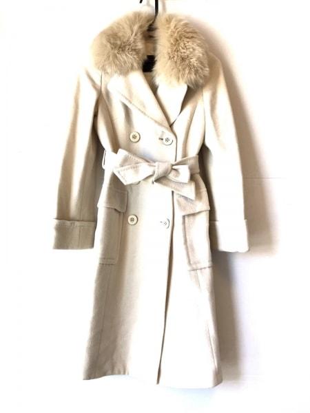 FRAGILE(フラジール) コート サイズ36 S レディース アイボリー 冬物/ファー