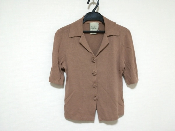 Sybilla(シビラ) カーディガン サイズ40 XL レディース ピンク 半袖