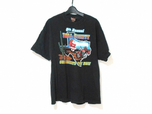 HARLEY DAVIDSON(ハーレーダビッドソン) 半袖Tシャツ サイズXL メンズ 黒×マルチ