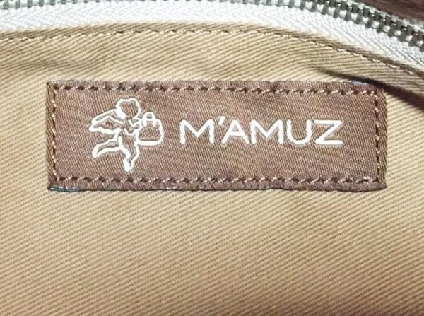MAMUZ(マミューズ) トートバッグ ベージュ×シルバー レザー×化学繊維