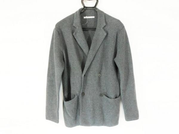 エディフィス ジャケット サイズ46 XL レディース グレー ニット/綿/カシミア