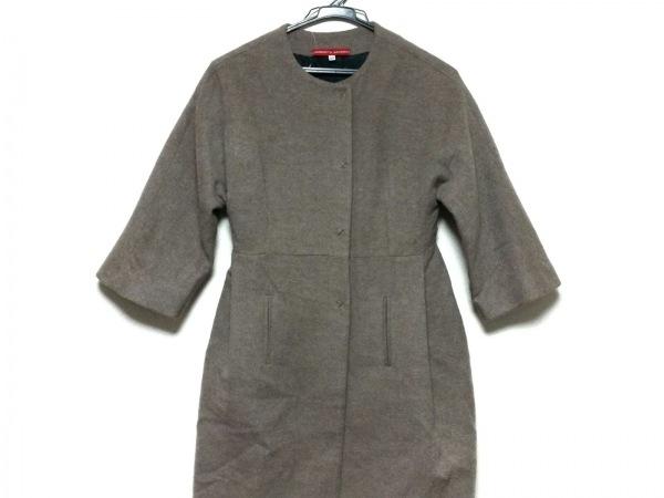 ロベルトムッソ コート サイズ40 M レディース美品  ダークブラウン 冬物