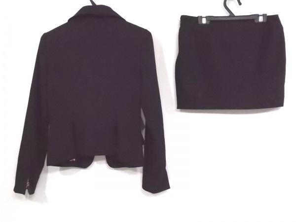 マーズ スカートスーツ サイズM レディース 黒×ゴールド×クリア ラインストーン