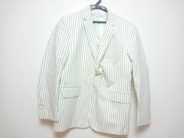 ブラックフリース バイ ブルックスブラザーズ ジャケット メンズ 白×グレー