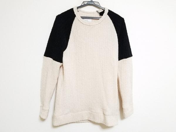 SHAREEF(シャリーフ) 長袖セーター メンズ ベージュ×黒
