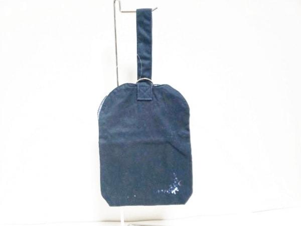 familiar(ファミリア) ハンドバッグ 黒 刺繍 コットン