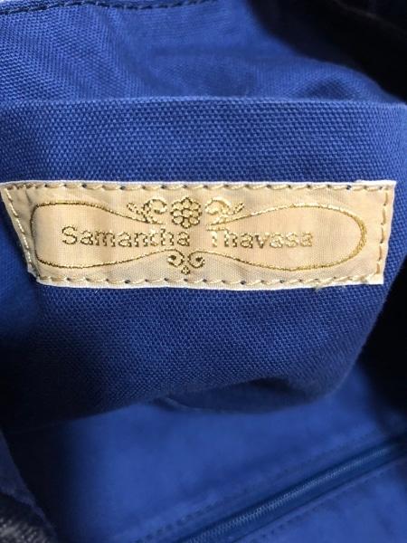 サマンサタバサ トートバッグ美品  アイボリー×ダークブラウン×マルチ チェック柄