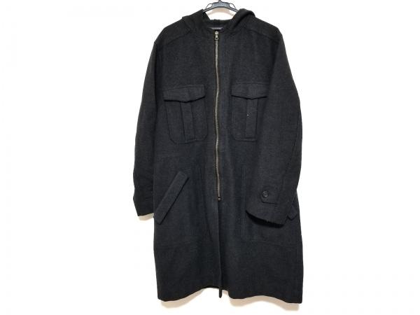 DRIES VAN NOTEN(ドリスヴァンノッテン) コート サイズL メンズ 黒 ジップアップ/冬物