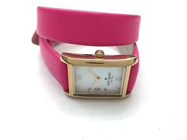Kate spade(ケイト) 腕時計 0248 レディース 革ベルト/シェル文字盤 白