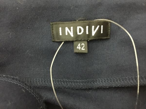 INDIVI(インディビ) ワンピース サイズ42 L レディース ダークネイビー