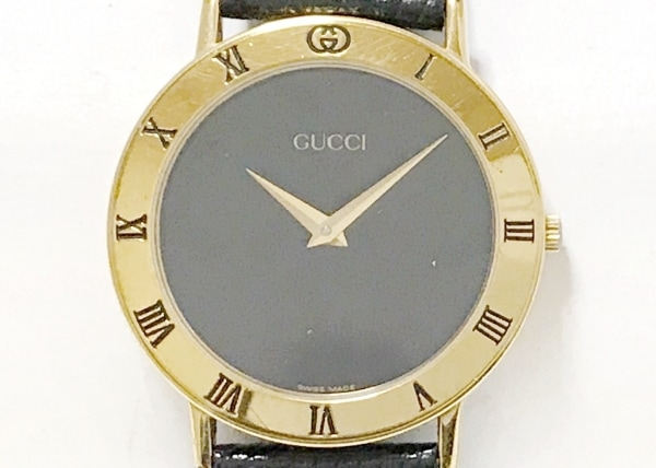 GUCCI(グッチ) 腕時計 3000.2.M レディース 革ベルト 黒