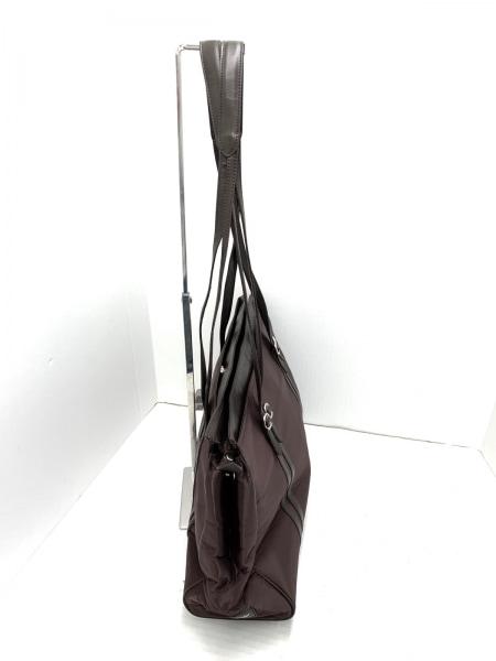 KENNETH COLE(ケネスコール) ショルダーバッグ美品  ダークブラウン ナイロン×レザー