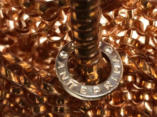ANTEPRIMA(アンテプリマ) ハンドバッグ美品  ワイヤーバッグ ゴールド ワイヤー