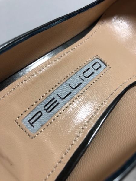PELLICO(ペリーコ) パンプス 37 1/2 レディース 黒 メタリック エナメル(レザー)