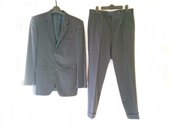 タケオキクチ シングルスーツ サイズ3 L メンズ ダークネイビー×グレー