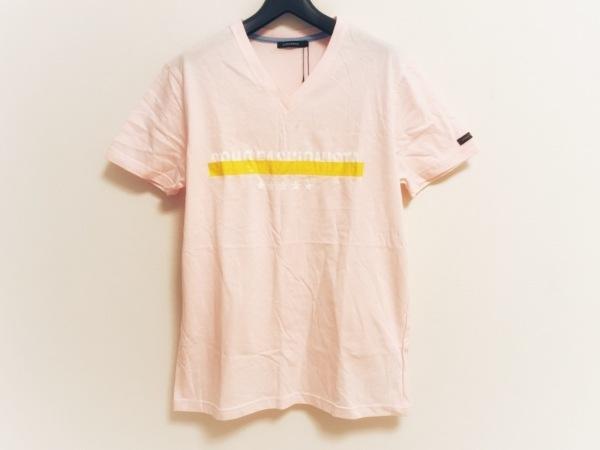 ギルドプライム 半袖Tシャツ サイズ1 S メンズ美品  ピンク×白×イエロー