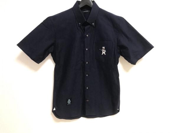 GUILD PRIME(ギルドプライム) 半袖シャツ サイズ1 S メンズ美品  ネイビー ベア