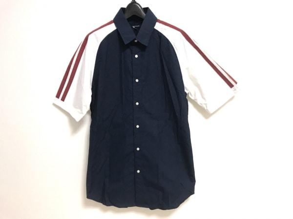 ギルドプライム 半袖シャツ サイズ2 M メンズ美品  ネイビー×レッド×白