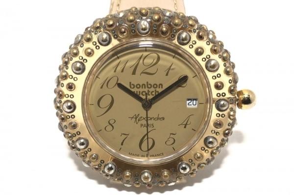 BONBONWATCH(ボンボンウォッチ) 腕時計 - レディース 革ベルト/裏スケ