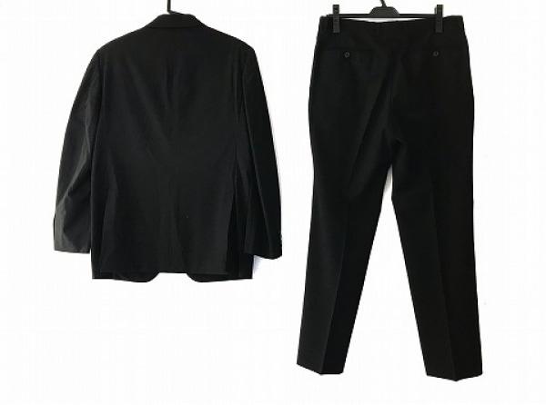 バレンチノガラバーニ シングルスーツ メンズ ダークグレー ネーム刺繍