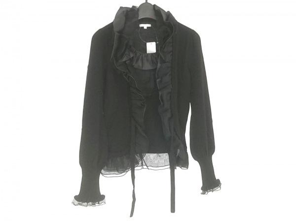TO BE CHIC(トゥービーシック) 長袖カットソー サイズ2 M レディース美品  黒 フリル