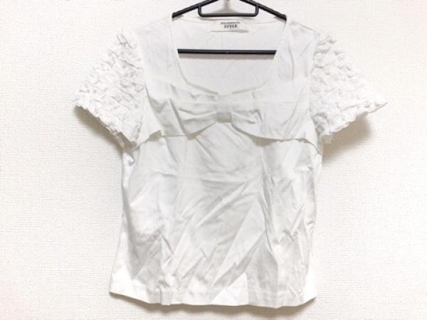 コージワタナベ スタイル 半袖カットソー サイズL レディース美品  白 フリル