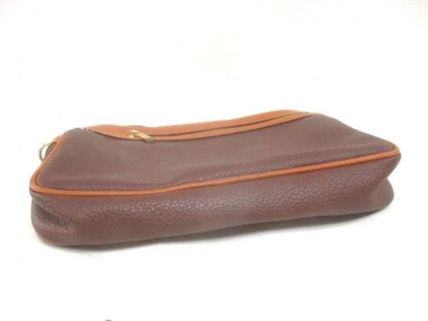 Lacoste(ラコステ) セカンドバッグ美品  ダークブラウン×ブラウン レザー