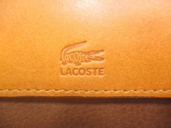 Lacoste(ラコステ) セカンドバッグ ダークブラウン×ブラウン レザー