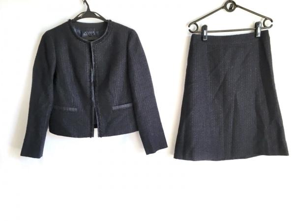 23区(ニジュウサンク) スカートスーツ サイズ38 M レディース ダークネイビー ラメ