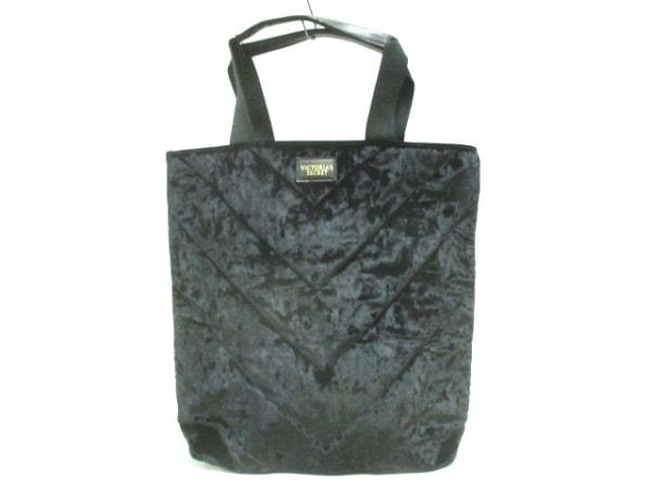 Victoria's Secret(ヴィクトリアシークレット) トートバッグ 黒 ベロア×レザー
