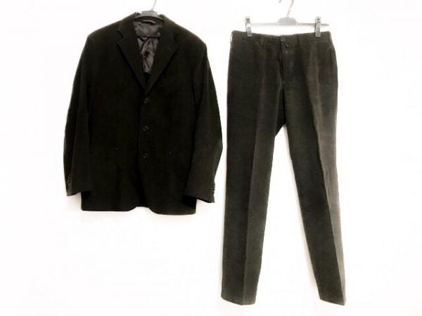 ヘンリーコットンズ シングルスーツ メンズ ダークブラウン シングル/肩パッド