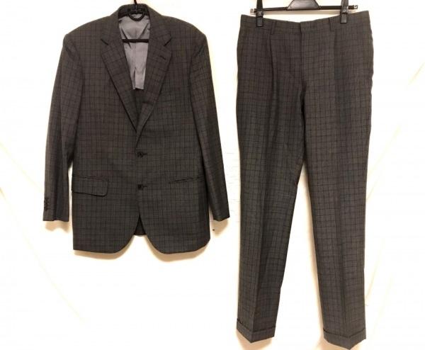 SAVILE ROW(サヴィルロウ) シングルスーツ サイズA6 メンズ グレー×黒