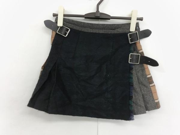 O'NEIL(オニール) 巻きスカート サイズ6 M レディース 黒×ライトブラウン